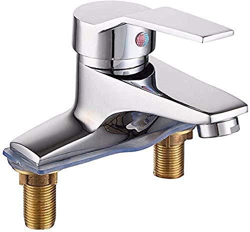 DJY-JY Beakjiful - Grifo mezclador para fregadero de cocina con cuerpo de cobre completo montado en la pared, grifo de fregadero de grifo de agua fría de 360 grados con boquilla giratoria