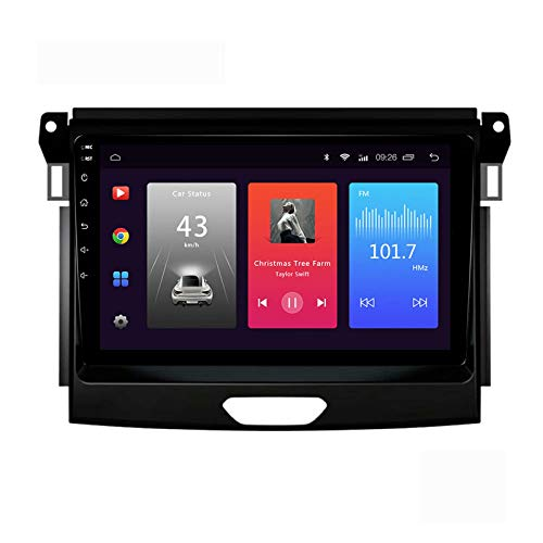 Android 10.0 Car Stereo Unidad principal doble Din compatible con Ford RANGER EDGE Everest 2015-2017 Navegación GPS Reproductor multimedia MP5 9 pulgadas Receptor video y radio con 4G DSP Carplay