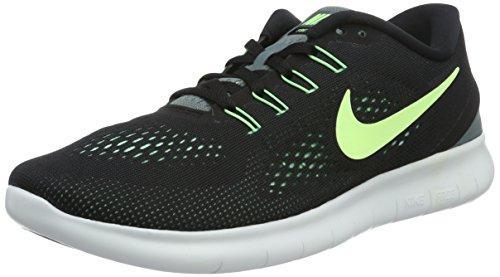 Nike Free Rn Herren Turnschuhe, Schwarz (Schwarz/Gespenst Grün- Hasta- Glühen Grün), 38.5 EU