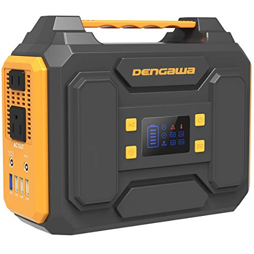 DenGaWa Portable Power Station 250Wh, Laptop Charger Lithium Battery Power Supply with 110V/250W Pure Sine Wave AC Output, DC USB Ports for Outdoors Camping Home Emergency