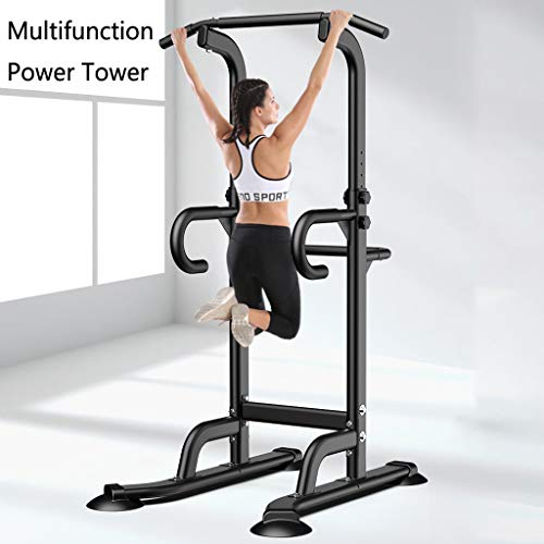 Strength Training Dip Stands - Multi-Function Pull Up & Dip Stand Power Tower, Home Gym Height Adjustable Fitness Strength Training Equipmen Durable...