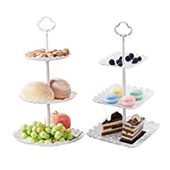 ✅FOOD GRADE MATERIAL: Safety food-grade plastic environmental protection PP material, can be used repeatedly, small and lightweight, easy to assemble. Perfect for putting mini cupcakes, crackers, strawberries, chocolates, finger sandwiches or other s...
