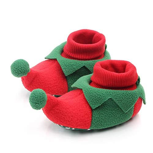FunPa Zapatos De Bebé Elfo Lindo Antideslizante Zapatos De Bebé Zapatos De Prewalker Zapatos para Niños Pequeños Zapatos De Disfraces para Navidad