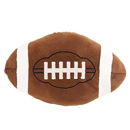 LucaSng Softball Fußball Basketball Baseball Rugby-Ball Plüschtier Simulation Fußball Basketball Kissen für Baby (Rugby-Ball)