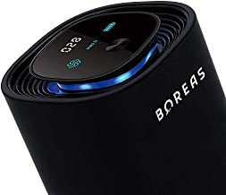 BUIO Boreas Portable Air Purifier - The Next Generation Air Purifier With UVC LED, Air Quality Monitor, Rechargeable Battery, and 15 Million Negative Ions That Purifies 99.9% of Air Particles (Black)