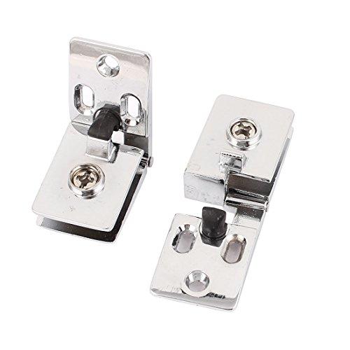 Aexit 2Stk Handwerkzeuge Schrauben-Montage Glas Klammer Klemme silbern für 6mm Zwingen, Klemmen & Spanner dickes Glas