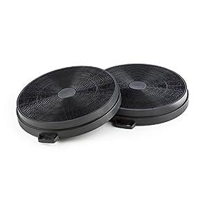 Klarstein Set de 2 filtres à charbon actif - Idéal pour hotte aspirante, Conversion des hottes aspirantes en recyclage d'air, Pour les hottes aspirantes Secret Service, Noir