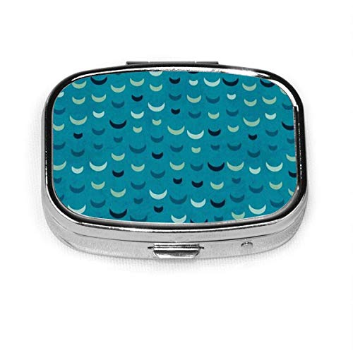 Watercolor Custom Silver Stylish, Slim Design Pill Box Holder,Rectangle Vitamin Organizer Pill case