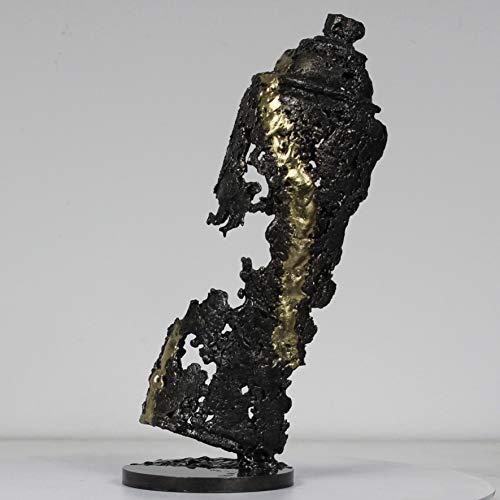 Pulverización Sculpture - arte bobina metal latón