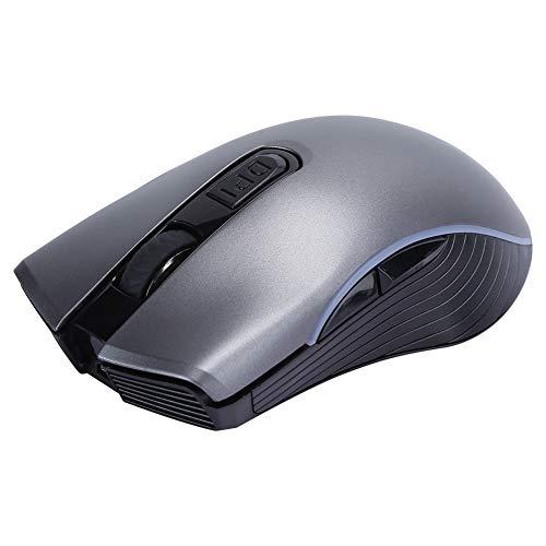 Ratón inalámbrico, Modo Dual Recargable por Bluetooth de 2,4 G, Memoria integrada, diseño ergonómico, ratón óptico Mudo, Juego de Ordenador Office Universal(Gris)