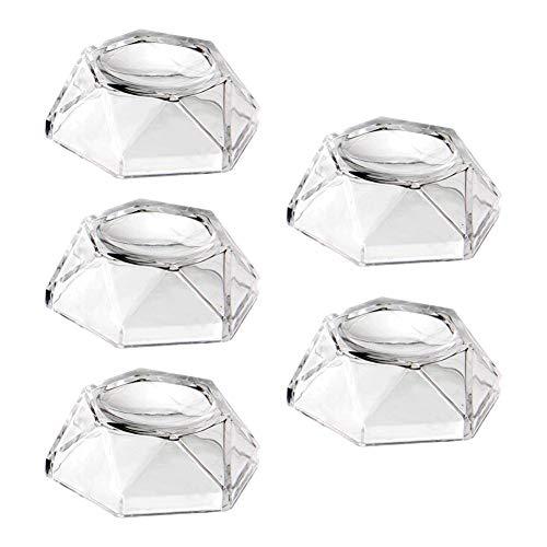 5pcs Soporte de soporte de bola de acrílico transparente para pelota de tenis de softball Golf Canicas de béisbol Esfera de huevo Bolas de rompecabezas, Soporte de soporte de exhibición hexagonal