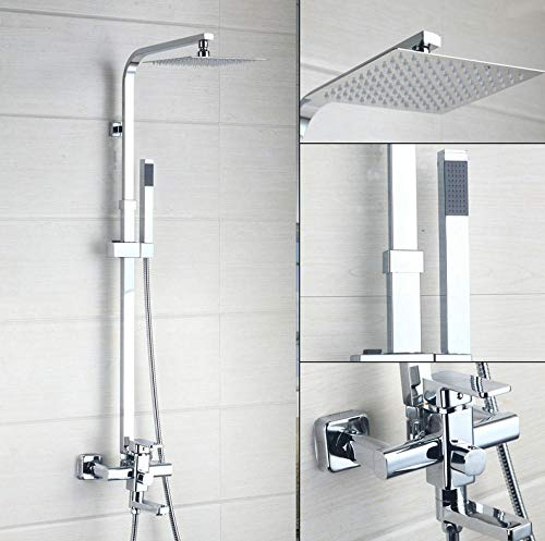 Gnailur 16 Phelhower Faucets Faucets Conjunto de grifos de agua Lluvia de lluvia Handheld Crome Pulverizador Cuadrado Hand Top Baño Set de ducha