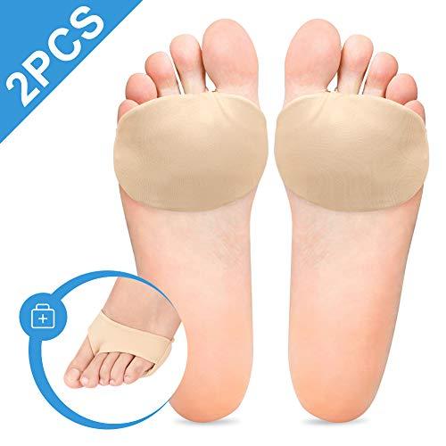 Doact Metatarsalgie Pad Mittelfußpolster Fußpolster Ballen Vorfußpolster Fußpads für Mittelfußknochen, Mittelfußknochenschoner, bei Schmerzen im Vorderfußbereich, Morton-Neuroma und Plantarwarten
