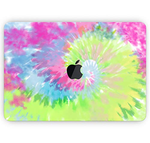 """Spiral Tie Dye V7 - Design Skinz Premium Full-Body Cover Wrap Matte Finished Decal Skin-Kit for The MacBook Air 13"""" (Model A1466/A1369)"""