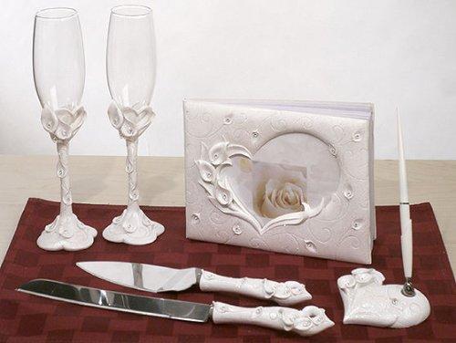 Crystal Calla Lily Theme Bridal Accessories Set