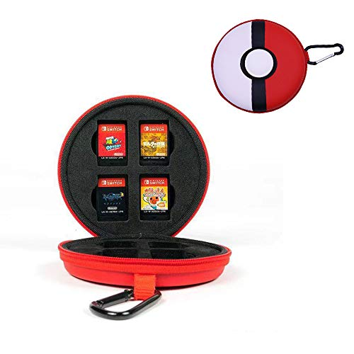 dainslef Game Memory Card Game Card Case, Pokeball Game Cards Holder, Game Storage Case Up to 8 Nintendo Switch Games for Nintendo Switch,Switch Lite