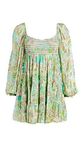 Hemant and Nandita Women's Nadia Short Dress, Kelly Green, X-Large