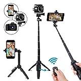 LEXY Perche Selfie Bluetooth, 101,6 cm Extensible Selfie bâton trépied avec télécommande sans Fil pour iPhone 6 7 8 x XR Plus, Samsung Galaxy S9/, GoPro, appareils Photo numériques