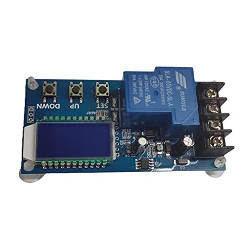 Bonarty Módulo de Interruptor de Controlador de Carga de Batería de Fuente de Alimentación Digital LCD de 6-60 V