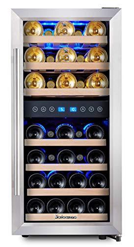 KRC-33BSS Kompressor Weinkühlschrank, 100 Liter, 33 Flaschen...