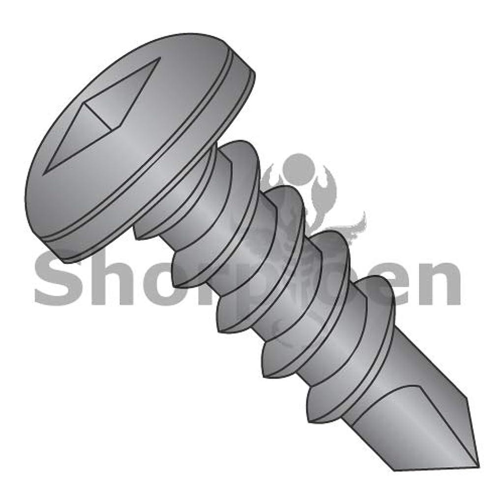 SHORPIOEN Square Drive Pan Self Drilling Screw Full Thread Black Oxide 10-16 x 1 1/4 BC-1020KQPB (Box of 1000)