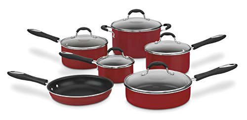 Cuisinart Advantage Nonstick 11-Piece Cookware Set, Red