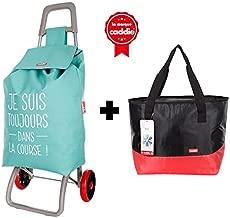 caddie Poussette de march/é 3 Roues Tango Shopping ADICT Coloris Code-Barre