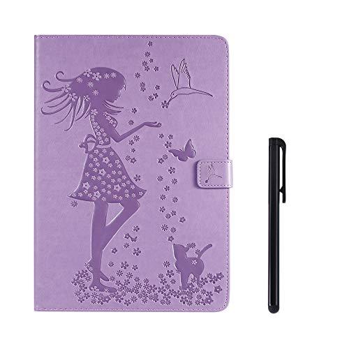 SsHhUu Galaxy Tab A 10.1 (2019) Hülle, Ultra Dünn Smart-Muschel PU Leder Hülle Cover für Samsung Galaxy Tab A 10.1 (2019) / SM-T510 / SM-T515 (10.1 Zoll) - Lila