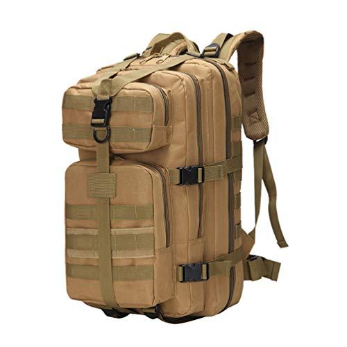 youjia Mochila Táctica Respirable Multibolsillos Militar Paquete de Asalto Gran Capacidad Impermeable Mochilas de Trekking (50 * 28 * 25cm, Caqui)