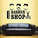 ASFGA Cool Man Shave Barba Barber Shop Stickers póster Personalizado Vinilo Arte de la Pared decoración decoración de la Ventana Hair Salon Razor Glass Decals 38x58cm