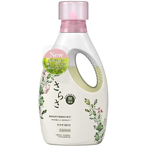 さらさ無添加植物由来の成分入り洗濯洗剤液体本体850g