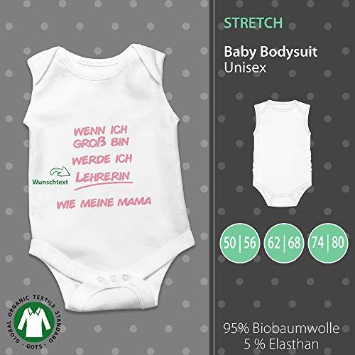 Baby Body Unisex   Wenn ich Groß bin werde ich_ wie Papa/Mama   Wunschtext   individuell   pickNstick