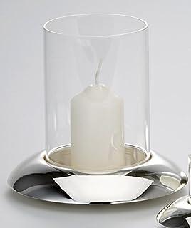H.15 cm///Ø 11,5 cm Casablanca Windlicht Carry Treibholz mit Kordelgriff und Glaszylinder