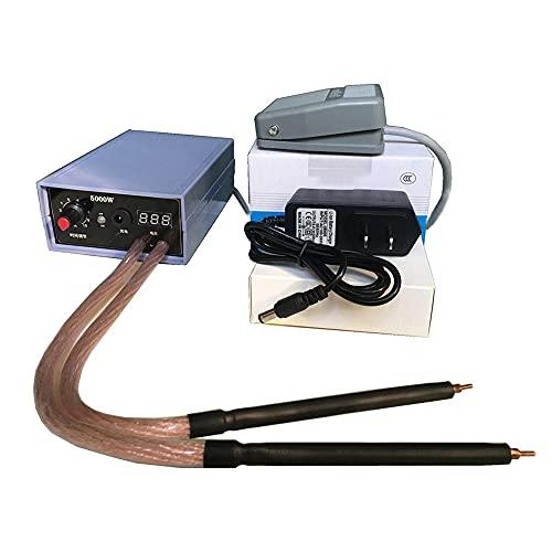 CENPEN Máquina de soldadura de punta ajustable de batería 5000W 220V 0,2 mm Kit de herramientas de soldadura de tira de níquel para DIY 18650 Batería (Color : Spot welder)