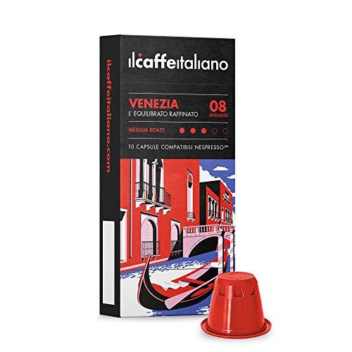 Nespresso, 100 Kaffeekapseln mit dem Nespresso System kombpatible - Il Caffè Italiano - Mischung Venezia, Intensität 8