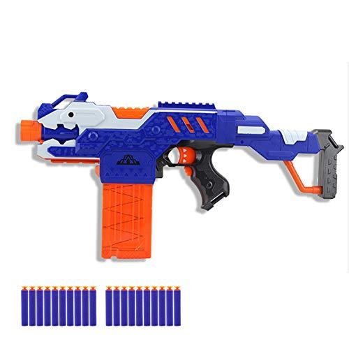 OYJD Lanzador de Espuma motorizado, Pistola de Juguete de Bala Suave interactiva para Padres e Hijos al Aire Libre Elite Assault, Cargador extendido, 20 Dardos dedicados.