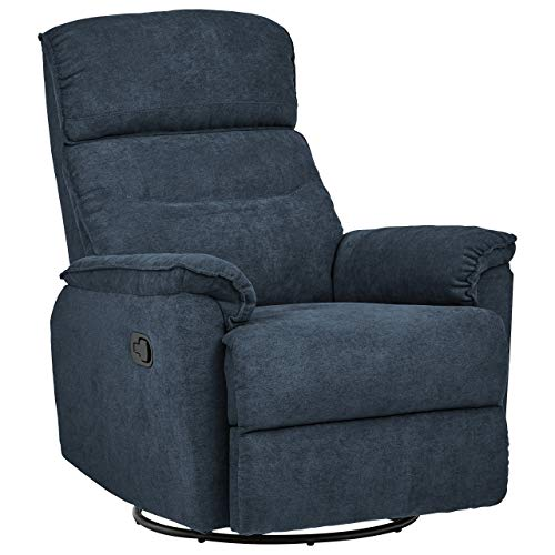 Amazon Brand – Ravenna Home Pull Recliner with 360-Degree Swivel Glider, Living Room Chair, 32'W,...