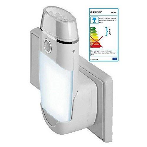 Nachtlicht mit Bewegungsmelder und Taschenlampe [Treppenlicht, Notlicht]; Notlicht-Funktion bei Stromausfall; Taschenlampe mit 8 LEDs; EEFKA+
