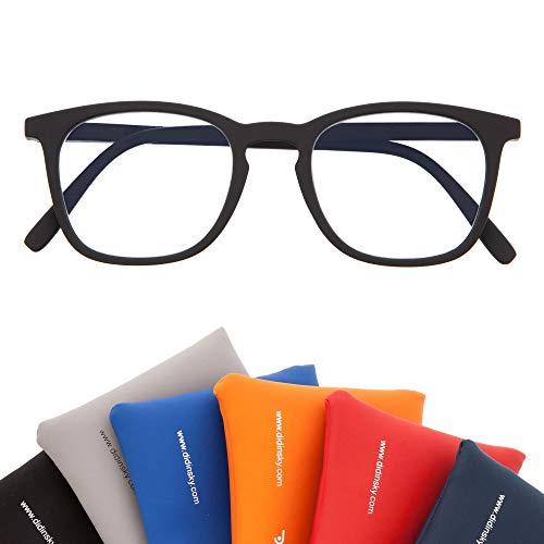 Gafas de Presbicia con Filtro Anti Luz Azul para Ordenador. Gafas Graduadas de Lectura para Hombre y Mujer con Cristales Anti-reflejantes. Graphite +1.5 – TATE