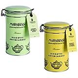 Galletas Artesanas Marabissi: Galletas de mantequilla clásicas en lata de metal + jengibre y limón en lata de metal - 2 x 200 gramos
