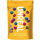 UNREAL Dark Chocolate Crispy Quinoa Gems   Non-GMO, Vegan Certified, Colors from Nature   3 Bags -  Unreal Brands(UNXA0) -- Dropship