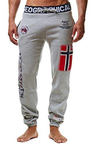 Geographical Norway MYER Men - Jogger Deportivos Estilo Casual - Pantalon Ajustados Deportiva Comodo Calidad - Chándal Casual Hombre Algodón Poliéster (Gris M)