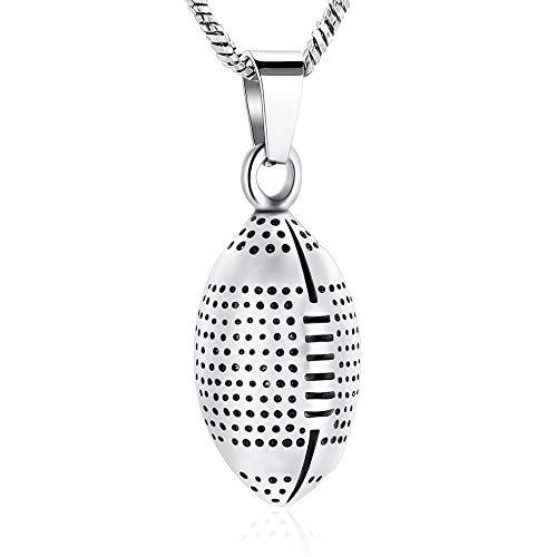 KBFDWEC Collar de urna de Recuerdo de Cenizas conmemorativas para Cenizas Joyas de cremación de Acero Inoxidable para Cenizas para Hombres