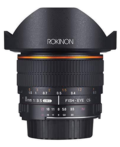 Rokinon FE8M-C 8mm F3.5 Fisheye Fixed Lens for Canon - Black