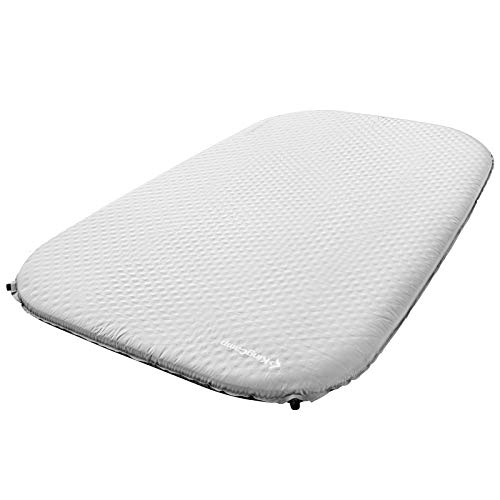 KingCamp Thick Double Self Inflating Camping Sleeping Pad Foam Mat Mattress (Light Grey)