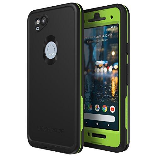 Lifeproof FR Series Waterproof Case for Google Pixel 2 - Retail Packaging - Night LITE (Black/Lime)