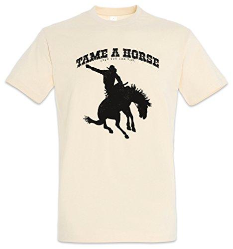Urban Backwoods Tame A Horse T-Shirt - Selle rodéo Cheval Sella cavaliere Cavallo andareaCavallo MontaraCaballo cabalgar Practicarequitación Caballo Tamaños S – 2XL
