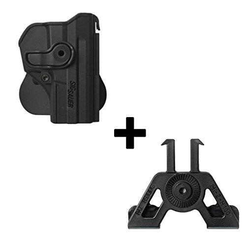 IMI Defense Tactique Rétention Holster caché Portez ROTO Rotation étui de Revolver + Molle Adaptateur attachement pour Sig Sauer Pro SP2022 / SP2009 Pistolet