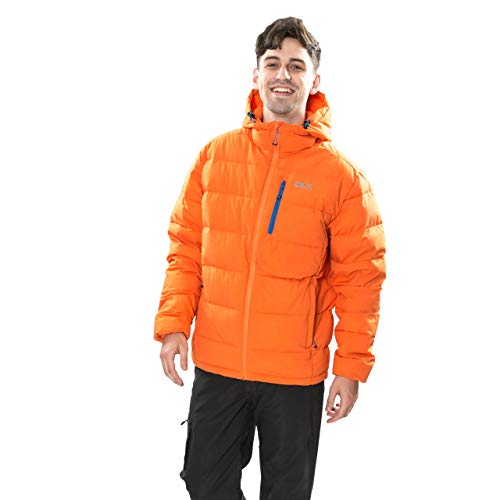 Trespass Herren Crane DLX Kapuzen Daunenjacke, Orange (Sunrise), L