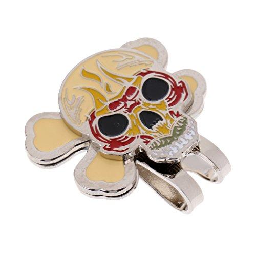 MagiDeal Clip De Chapeau De Golf Avec Clip Magnétique Marqueur De Balle De Golf - Crâne, 2.4×2 cm